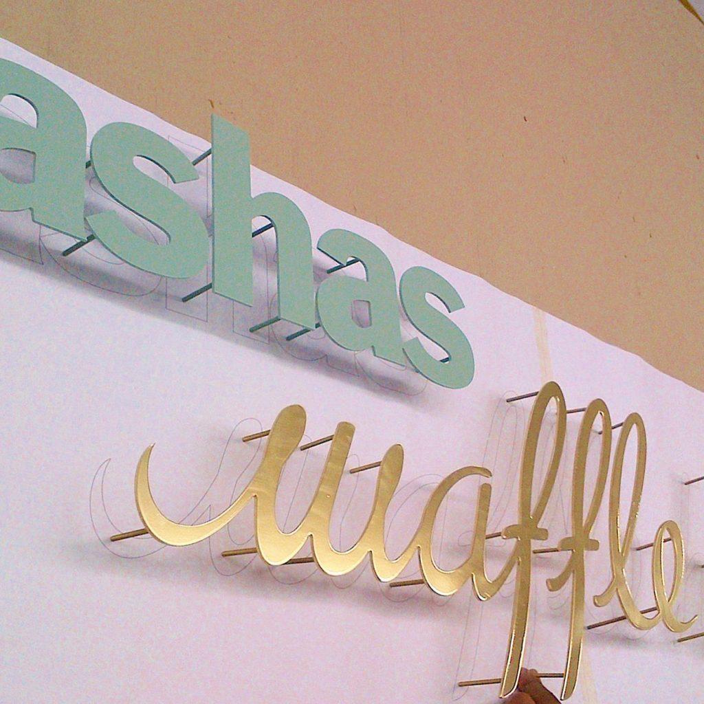 Tashas | Signage Production Studio | SPS Tashas x