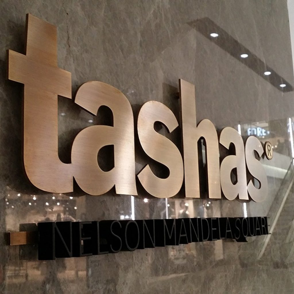 Tashas | Signage Production Studio | SPSTashas x