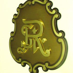 Brass Plaques  - SPS PlaqueCrest005 300x300
